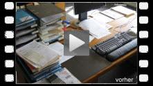 Video-Clip griffbereite Unterlagen